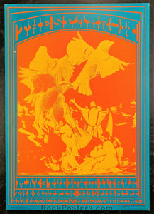 AUCTION - Neon Rose 14 - Sparrow 1967 Concert Poster - Matrix - Condition - Excellent
