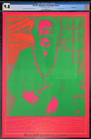 Neon Rose 4 - Big Brother - 1967 Poster - Moscoso Signed - The Matrix  - CGC Graded 9.8