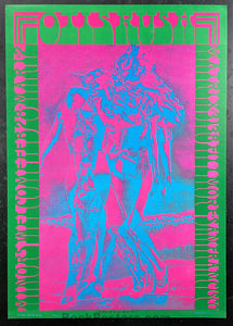 AUCTION - Neon Rose 8 - Otis Rush - Moscoso Signed - 1967 Poster - Matrix - Excellent
