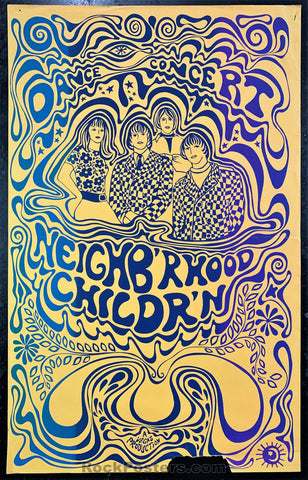 AUCTION - Psychedelic - Neighb'rhood Childr'n California Yreka, CA 1967 Poster - Condition - Good