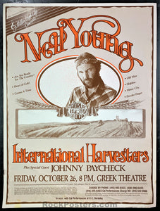 BGP - Neil Young World Tour 1984 Poster - Greek Theater - Rough