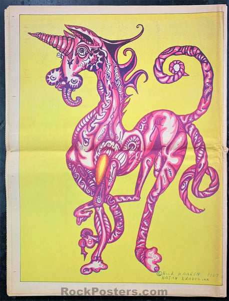 AUCTION - Drugs - So. Cal. Oracle Psychedelic Art Newspaper 1968 - Condition - Excellent