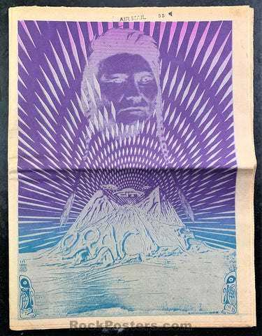 AUCTION - ORACLE #8  Native American Issue 1967 Newspaper - San Francisco - Condition - Excellent