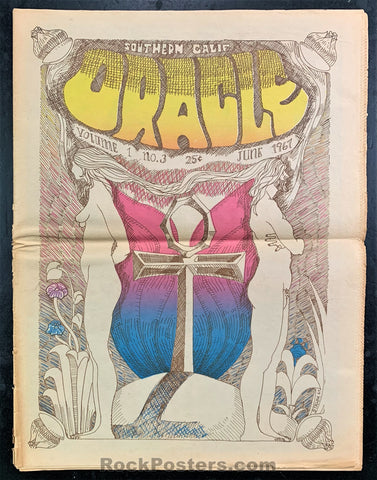 AUCTION - Drugs - So. Cal. Oracle Number 3 -  Psychedelic 1967 Underground Newspaper - Excellent