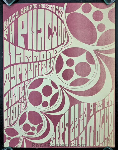 AUCTION - P.H. Phactor  - Oregon 1967 Psychedelic Concert Poster - Condition - Excellent