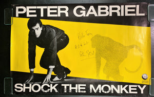 "AUCTION - Peter Gabriel -  Signed ""Shock the Monkey"" Promo Poster  - Condition - Very Good"