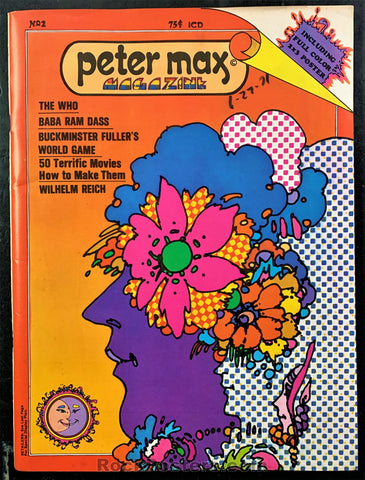 AUCTION - Peter Max - 1970 Psychedelic Poster and Magazine - Condition - Excellent