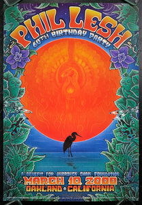 Grateful Dead - Phil Lesh 60th Birthday - 2000 Signed Poster - Oakland Arena - Near Mint Minus