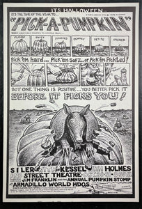 AUCTION - Texas - Armadillo - Pick A Pumpkin - 1971 Poster - Near Mint