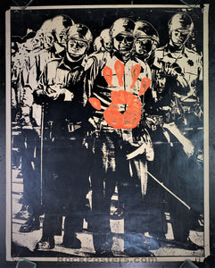 AUCTION - Political - Late 60's - Psychedelic Protest Poster - Good