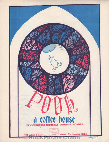 AUCTION - Pooh - Hippie Coffee Shop Promo 1960's Handbill - Excellent