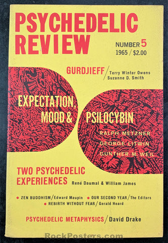 AUCTION - DRUGS - The Psychedelic Review #5 Mushrooms Zen Buddhism 1965 Journal - Condition - Near Mint Minus