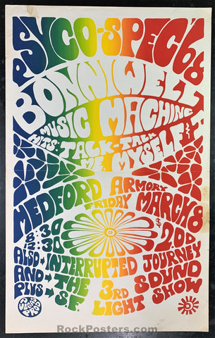 AUCTION - Oregon Psychedelic Split Fountain 1968 Poster - Medford Armory - Condition - Excellent