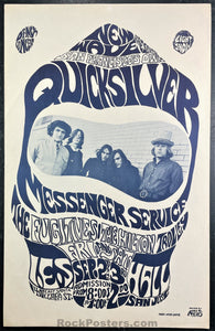 AUCTION - Psychedelic - Quicksilver - 1966 Cardboard Poster - San Jose, CA - Excellent