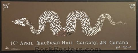 AUCTION - Emek - QOTSA Calgary '05 - Brown Variant Silkscreen - Edition of 30 - Condition - Mint