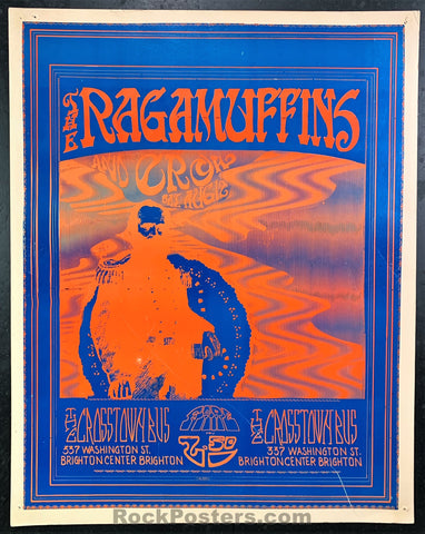 AUCTION - Ragamuffins Donna Summer - Psychedelic 1967 Poster - Crosstown Bus  Boston - Very Good