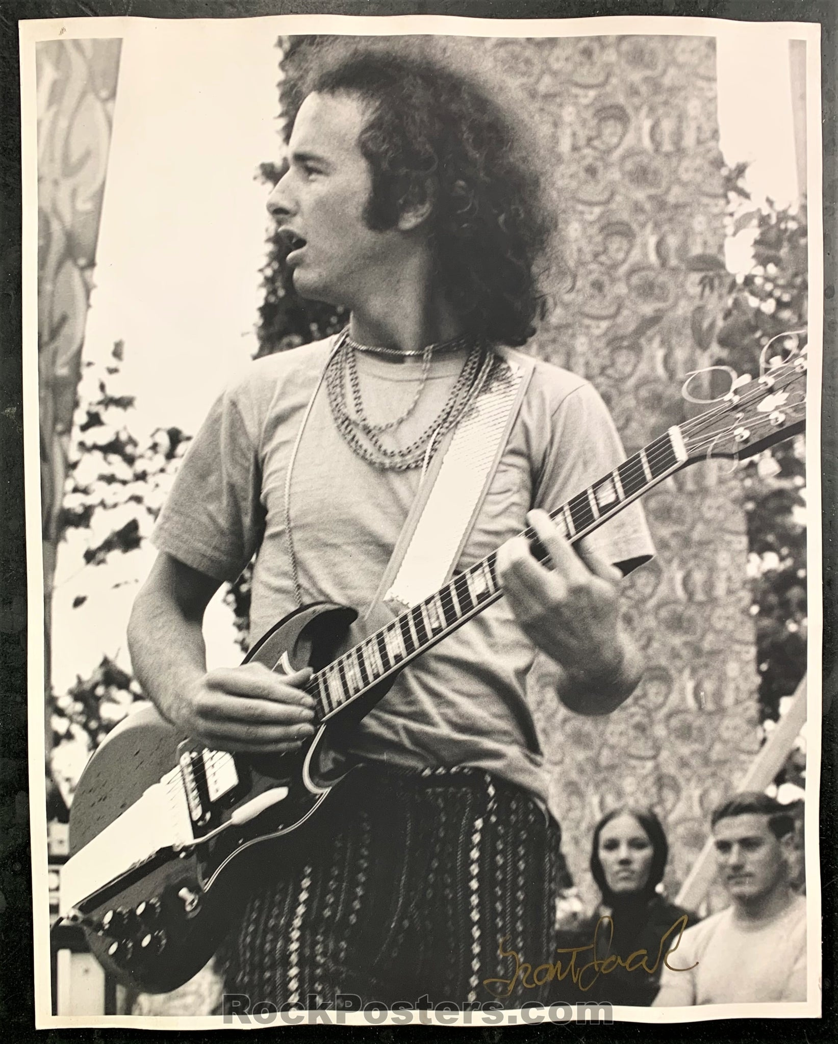 The Doors - Robby Krieger Concert Photograph - Grant Jacobs SIgned - Excellent