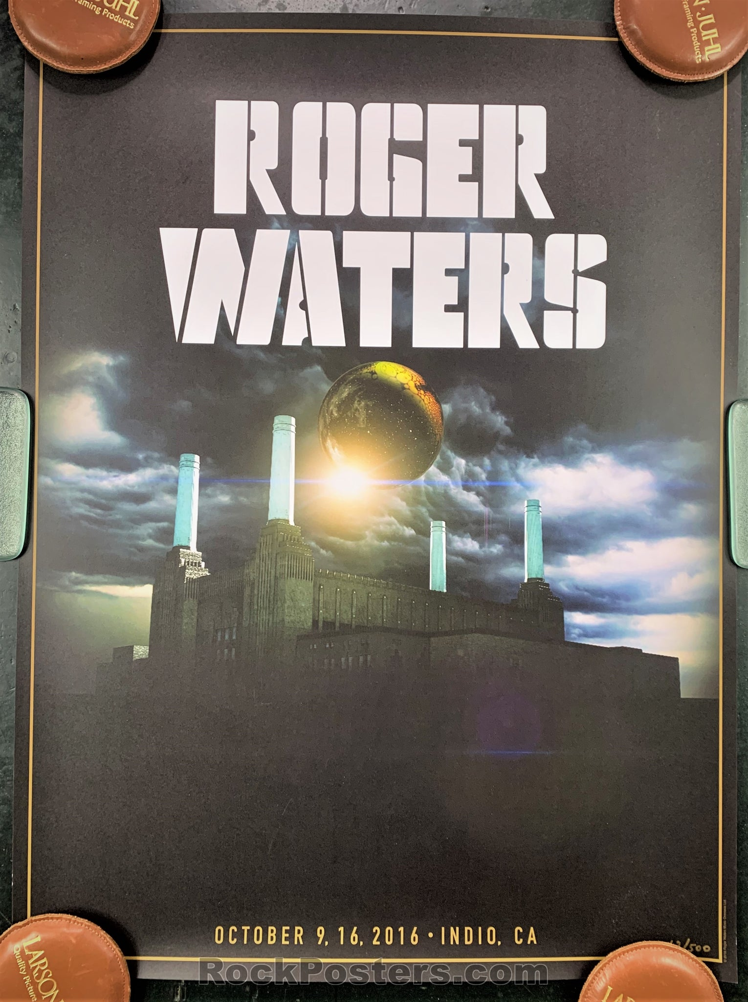 AUCTION - Pink Floyd - Roger Waters  Coachella 2016 Limited  Edition Poster  - Condition - Excellent