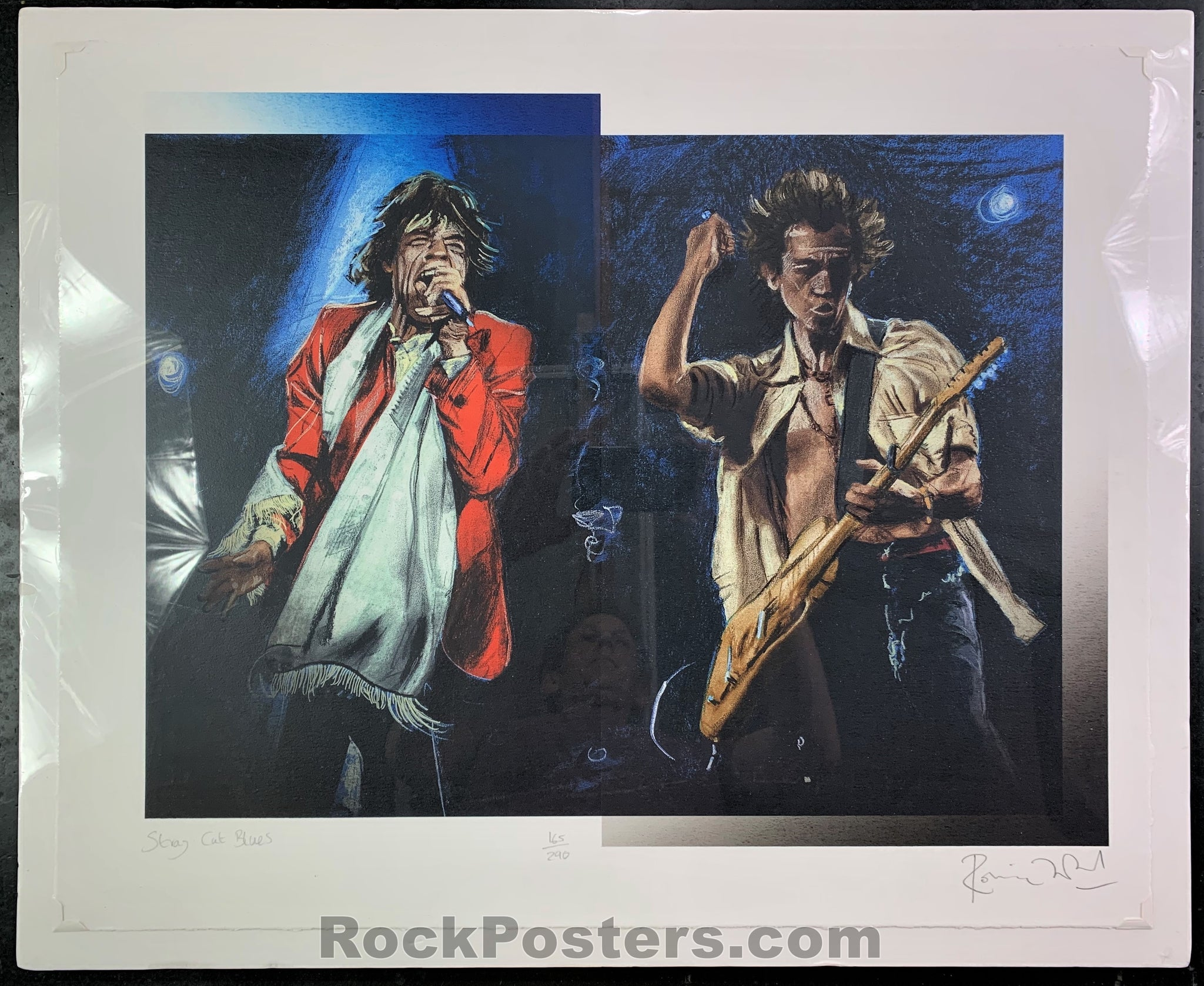 AUCTION - Rolling Stones  - Ron Wood Limited Signed Print - New York - Condition - Near Mint