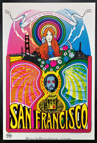 AUCTION -  San Francisco  - 1967 Psychedelic Head Shop Poster - Condition - Near Mint