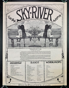 AUCTION - Sky River Festival  - Grateful Dead  S.F. Mime Troupe 1968 Festival Poster -  Condition - Very Good