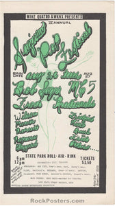 AUCTION - MC5 - Saginaw Pop Festival 1969 Handbill - Michigan - Near Mint Minus