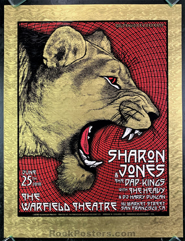 AUCTION - Alexandra Fischer - Sharon Jones Warfield 2010 Foil Poster - Condition - Near Mint Minus