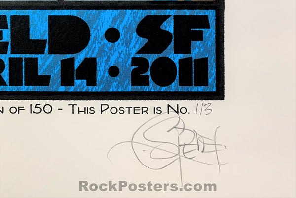 AUCTION - Chuck Sperry - PJ Harvey San Francisco '11 - 1st Edition Silkscreen - Condition - Near Mint