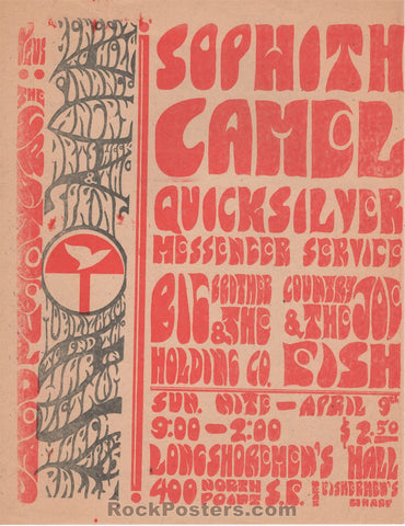 AUCTION - Grateful Dead - Longshoremen's Hall Two-Sided Benefit 1967 Handbill - Near Mint Minus
