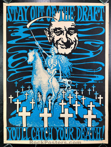 AUCTION - Political - Psychedelic Anti Draft NYC 1968 Poster  - Very Good