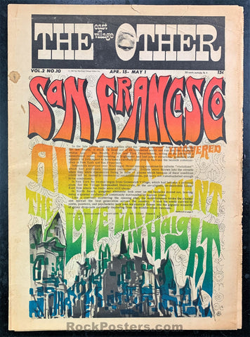 AUCTION - East Village Other Summer of Love 1967 - New York Underground Newspaper -  Excellent