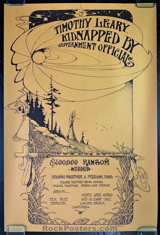 AUCTION - Timothy Leary - Ransom 1970 Brotherhood of Eternal Love Original Poster - Bill Ogden - Condition - Excellent