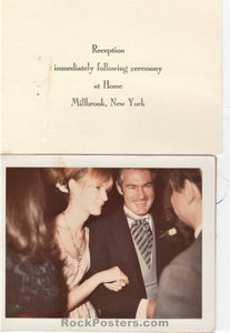 AUCTION - Drugs - Timothy Leary Wedding 1964 Wedding Invitation/Photograph  - Near Mint Minus