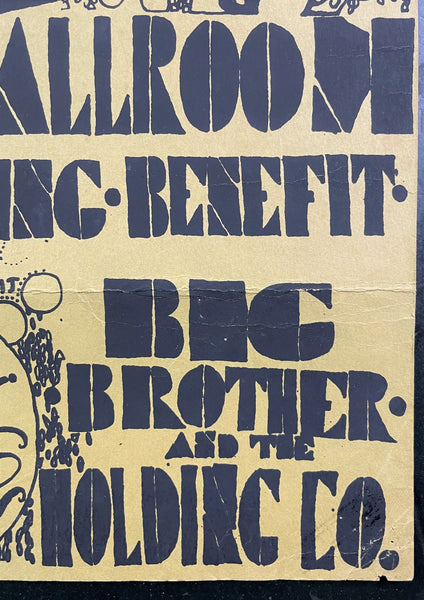 AUCTION - Family Dog - Janis Big Brother Quicksilver - 1967 Silkscreen Poster - Avalon - Good