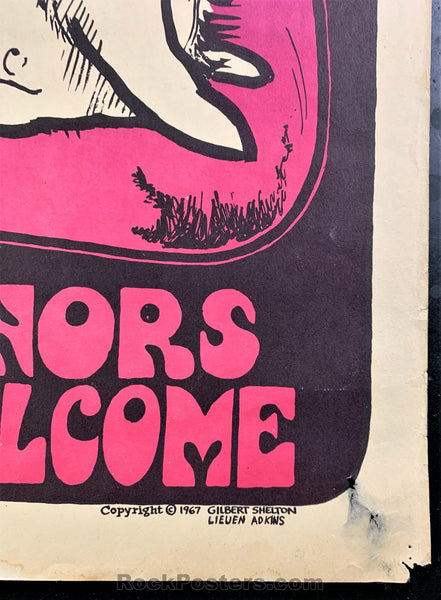 AUCTION - Vulcan Gas 13th Floor Elevators 1967 Poster - Texas - Very Good