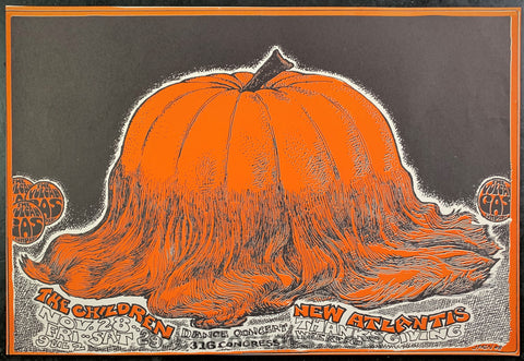 "AUCTION - Texas - ""Hairy Pumpkin"" 1968 Handbill - Vulcan Gas - Condition - Near Mint Minus"