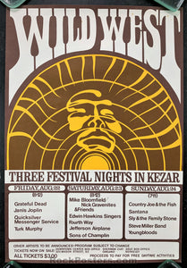 AUCTION - AOR2.33 - Wild West  Festival Grateful Dead Janis Joplin Handbill - Kezar Stadium - Condition - Excellent