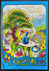 AUCTION - Alice In Wonderland - 1967 Original Psychedelic Poster - Condition - Near Mint