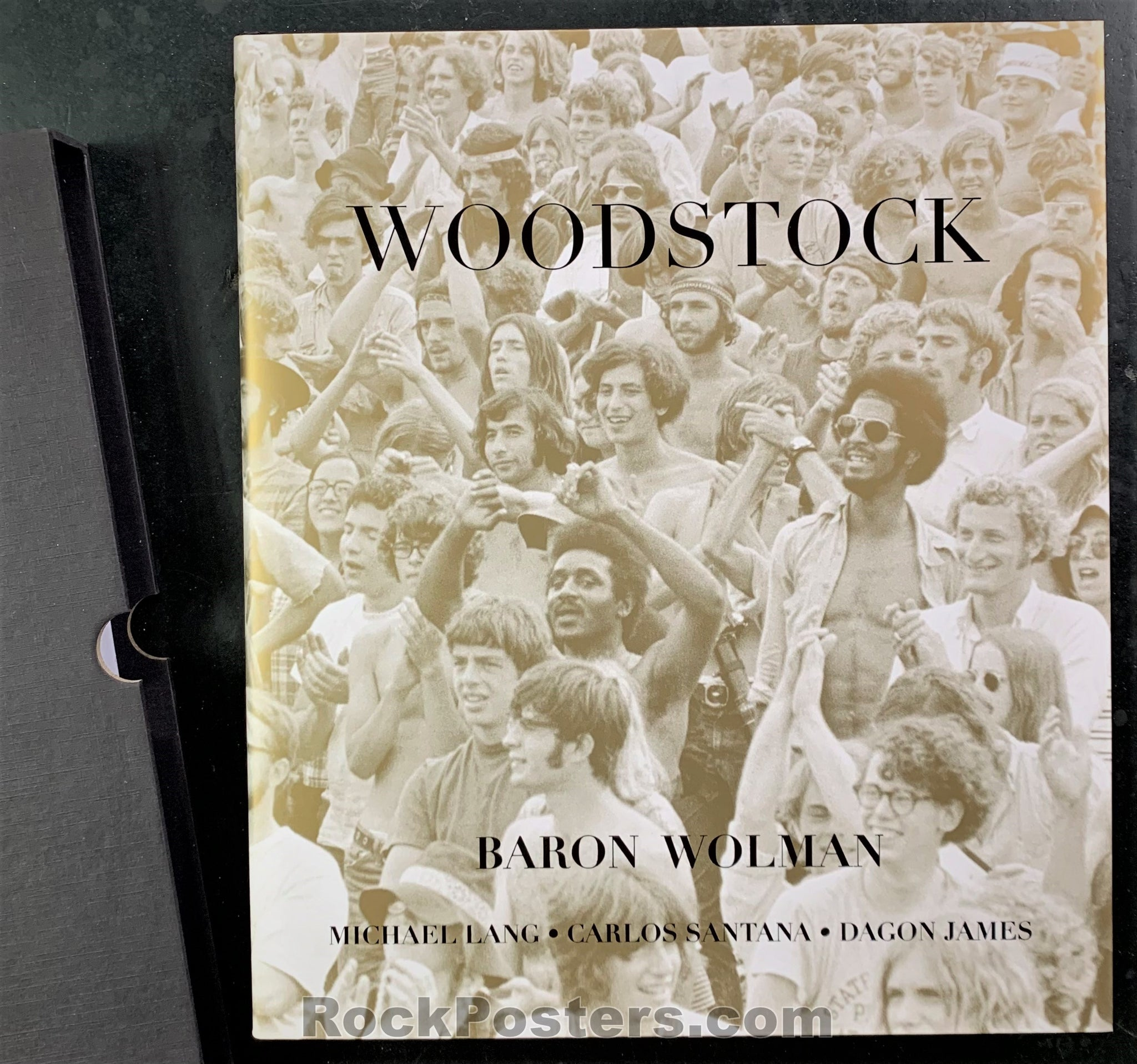 AUCTION - Woodstock - Signed Baron Wolman Photo Book with Ticket - Mint