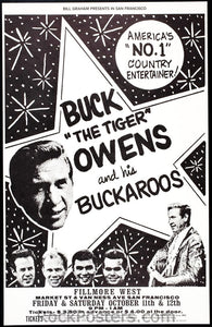 bg140a - Buck Owens Poster - Fillmore Auditorium - Condition - Near Mint