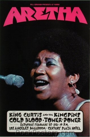 bg272a - Aretha Franklin Poster - Los Angeles Ballroom - Condition - Excellent
