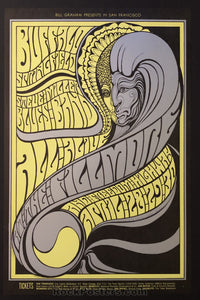 AUCTION - BG61 - Buffalo Springfield 1967 Poster - Fillmore Auditorium - Condition - Mint