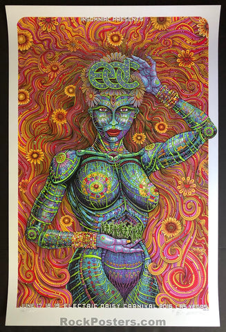 AUCTION - Emek Electric Daisy - Carnival Las Vegas '16 Silkscreen Pearl Stock Artist Edition of 100  - Condition - Mint