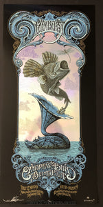 AUCTION - Emek Aaron Horkey -  The Decemberists Northwest '09 RARE Foil Silkscreen Edition of 60 - Condition - Mint