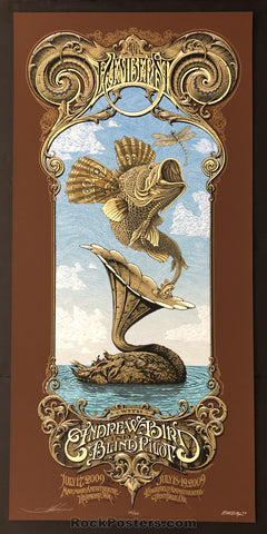 AUCTION - Emek Aaron Horkey - The Decemberists Northwest '09 Artist Edition Silkscreen - Condition -  Mint
