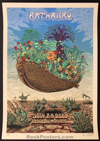 AUCTION - Emek Rothbury  - Festival '09 Bob Dylan The Dead RARE Silkscreen Earth Edition of 100 - Condition - Mint