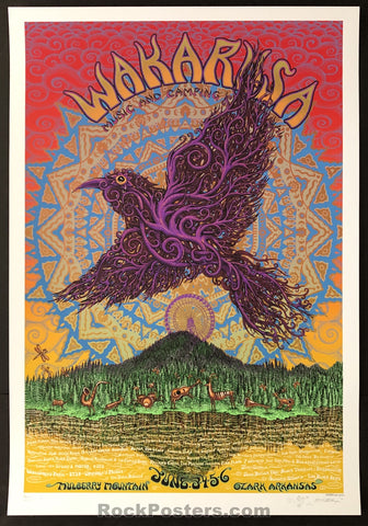 AUCTION - Emek Wakarusa  - '10 Widespread Panic RARE Silkscreen Poster Sunset Edition of 25 - Condition - Mint