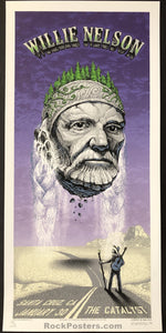 AUCTION -  Emek  Willie Nelson - Santa Cruz '06 Silkscreen RARE Purple Variant Edition of 30 -  Condition  -  Mint