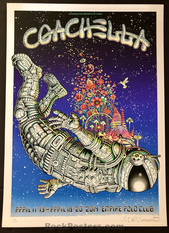 AUCTION - Emek - Coachella '14 Silkscreen - Blue Faded Sky Edition of 60 - Mint