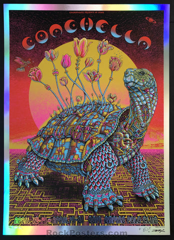 AUCTION - Emek - Coachella '19 Silkscreen - Red Mirror Foil/Yellow Sun Variant Edition of 25 - Condition - Mint